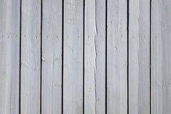 Träplank för vit uteplats som pryder durkbakgrundstextur Royaltyfria Foton