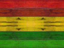 Träplanka med reggaebakgrund Fotografering för Bildbyråer
