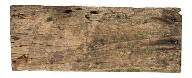 Träplanka som isoleras på vit bakgrund, urklippbana arkivbild