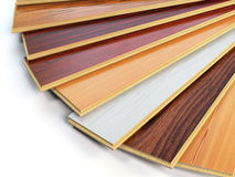 Träplankor för parkettnolla-laminat av de olika färgerna på whit royaltyfri illustrationer