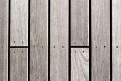 Träplankor med textur för skruvbakgrundsfoto Royaltyfri Bild