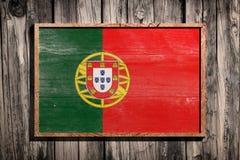 TräPortugal flagga Royaltyfri Fotografi