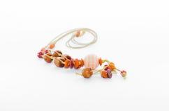 Träprydde med pärlor smycken Royaltyfria Bilder