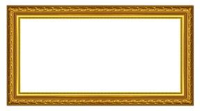 Träramen för gammal guld Royaltyfria Foton