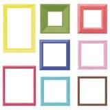 Träramfärguppsättning Arkivbild