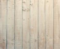 Träremsor av kräm färgat målat trä Arkivfoto