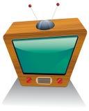 träretro tv Arkivfoton