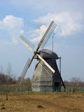 trärysswindmill Royaltyfria Bilder