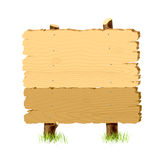 träsignboard stock illustrationer