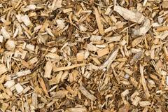 Träskäll Chip Mulch Sikt för full bakgrund arkivfoto