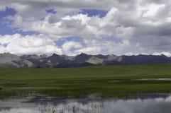 Träsk i bergen Fotografering för Bildbyråer