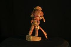 Träskapelse, trä, ¾ för Ð'ÐΜÑ€ÐΜÐ-² Ð, ¾ för ² Ð för 'Ð för  Ñ för иÑ-ÐºÑƒÑ  Ñ, trähuvud, konst som hand-göras, skulptur Royaltyfri Foto