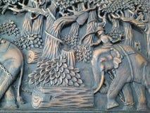 Träskulptur Royaltyfri Bild