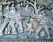 Träskulptur Royaltyfri Fotografi