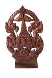 Träskulptur för gammal thai stil Royaltyfria Bilder