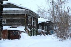 Träskulptur i Ryssland royaltyfri fotografi