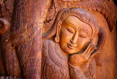 Träskulpturkonst Royaltyfri Fotografi