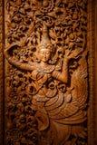 Träskulpturkonst royaltyfri bild