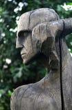 Träskulptursammansättning vid E. Chubarov Arkivbilder