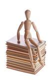 Träskyltdockaman från den Ikea gestaltaen Arkivfoto