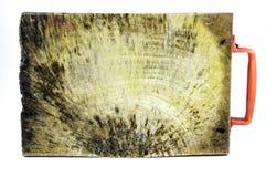 Träsnitt wood platta för asiatisk stil för den klippta ingrediensen, redskap Royaltyfri Bild