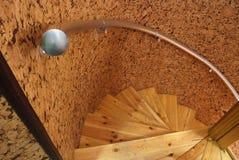 träspiral trappuppgång Royaltyfri Fotografi