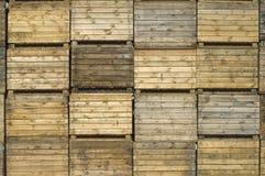 träspjällådor Arkivfoto