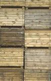 träspjällådor Arkivbild