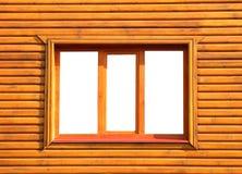 Trästängt fönster Royaltyfria Foton