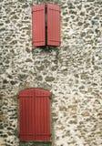 trästängt fönster Royaltyfria Bilder