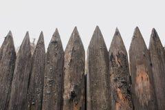 Trästaket för gammal by Fotografering för Bildbyråer