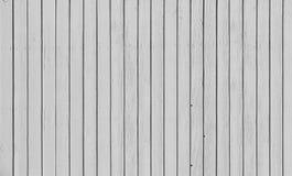 Trästaket med parallella plankor med vit målarfärg Royaltyfri Fotografi