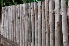 Trästaketcloseupdetalj Royaltyfri Foto