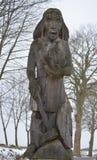 Trästaty av guden Perun Royaltyfri Fotografi