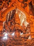 Trästaty, Thailand Arkivfoto
