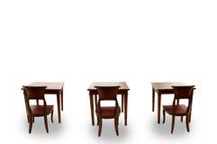 Trästolen och bordlägger Arkivfoton