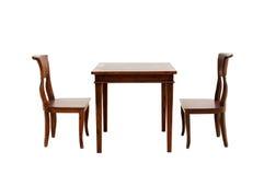 Trästolen och bordlägger Royaltyfri Foto