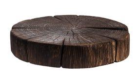 Trästubbe Mörk träskärbräda Royaltyfria Foton