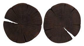 Trästubbe Mörk träskärbräda Top beskådar Fotografering för Bildbyråer