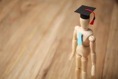 Trästudentdiagram, utbildning och utbildning arkivbild