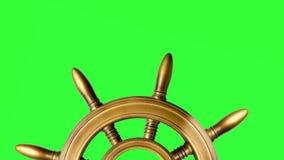 Trästyrninghjul royaltyfri illustrationer
