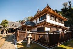 Trätempel som buidling i Nagasaki, Japan Arkivbilder