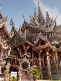 Trätempel, Thailand Royaltyfria Foton