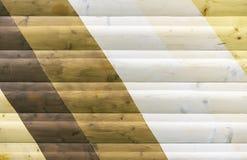 Trätextur med olika skuggor bakgrund för design och garnering arkivbild