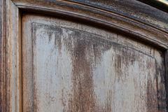 Trätextur med skrapor och sprickor Royaltyfri Bild