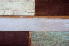 Trätexturbakgrund för gammal färg Arkivbilder