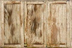 Trätexturbakgrund för gammalt brunt fönster Royaltyfri Bild