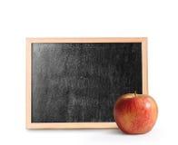 Trätom svart tavla Arkivbild