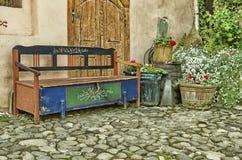 TräTransylvania bänk arkivfoto