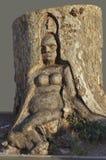 trätree för yxasnickareskulptur Royaltyfri Fotografi